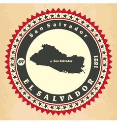 Vintage label-sticker cards of El Salvador vector