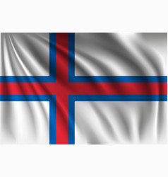 Waving faroe islands vector