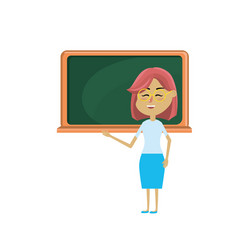 woman teacher teaching to the student in the vector image