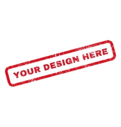 Your Design Here Rubber Stamp vector
