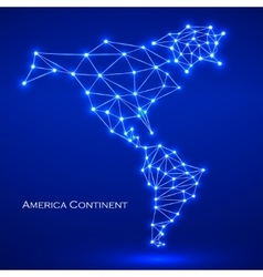 Abstract polygonal map America continent vector image vector image