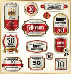 Anniversary labels vector