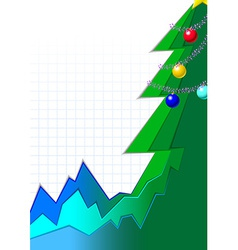 christmas infographic tree vector image