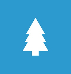 fir-tree icon white on the blue background vector image vector image