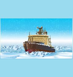 icebreaker vector image vector image