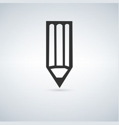 pencil icon isolated vector image vector image