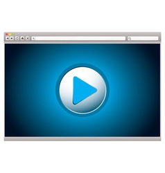 web video player vector image vector image