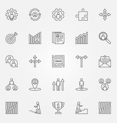 career icons set vector image vector image