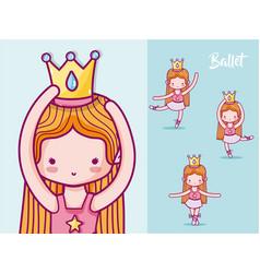 cute girl ballet dancers vector image