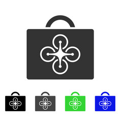 drone case flat icon vector image vector image