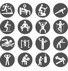 Man People Athletic Gym Gymnasium Body Building vector image vector image