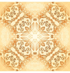 Ornate vintage circle pattern in mehndi style vector image vector image