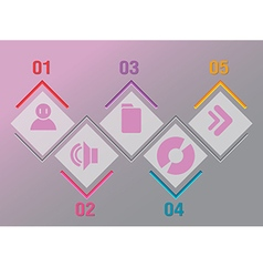 Abstract Info Graphic Timeline Presentation vector image