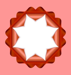 Decorative rosette vector image