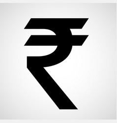 indian rupee icon vector image vector image
