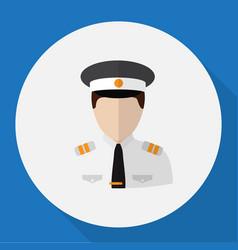 of profession symbol on pilot vector image