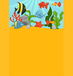 sea bottom with big layer of greend sharp coral vector image