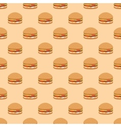 Seamless fast food pattern vector image vector image