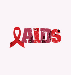 aids concept stamped word art vector image vector image