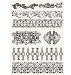 antique design elements and page decoration vector image vector image