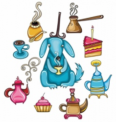 coffee and tea design element vector image