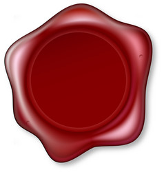 red wax seal vector image vector image