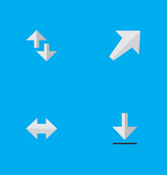 set of simple arrows icons elements loading vector image