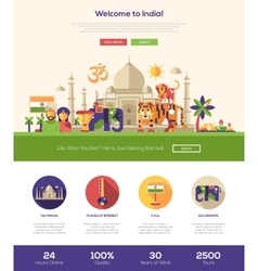 Traveling to India website header banner with vector image vector image
