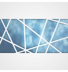 Abstract blue tech corporate background vector