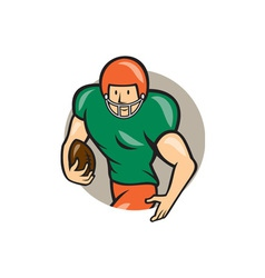 American Football Running Back Circle Cartoon vector image
