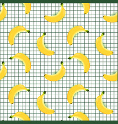 banana seamless pattern with square background vector image