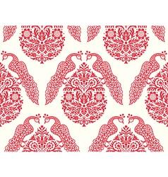 Birds on tree seamless pattern vector