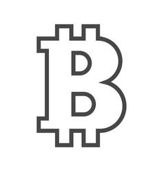 Bitcoin thin line icon vector