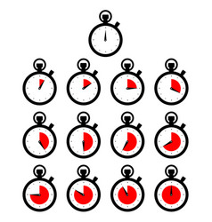 Black circle chronometer timer counting ticking vector