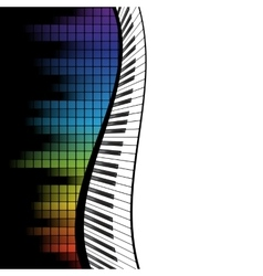 Black piano template vector