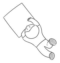 boy drawing vector image