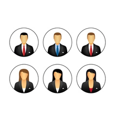 Business profile icons vector image