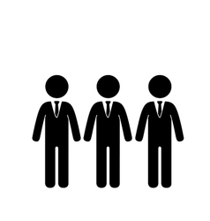 Businessmen teamwork pictogram vector image
