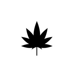 cannabis marijuana leaf hemp flat icon vector image