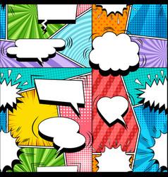 comic elegant seamless pattern vector image