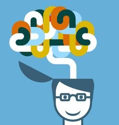 Creative person - head with imaginative brain vector