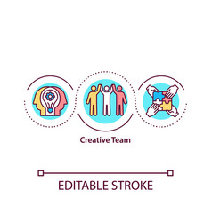 creative team concept icon vector image