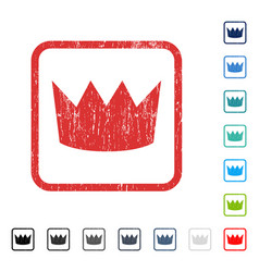 Crown icon rubber watermark vector