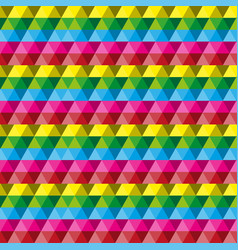 crystal pattern colorful vector image