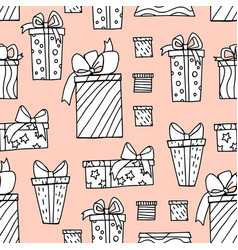 Different present boxes and packages vector