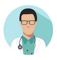 Doctor web icon therapist avatar vector