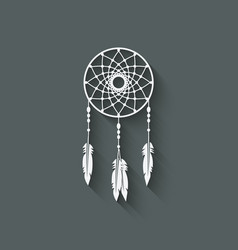 Dreamcatcher design element vector