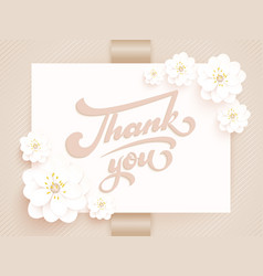 Elegant thank you invitation card vector