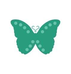 Flat icon on white background flying butterflies vector