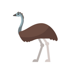 Flat style of emu vector